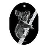 Midnight Koala Oval Ornament