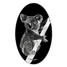 Midnight Koala Oval Decal