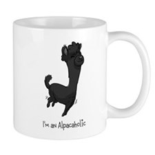 Bouncing Black Alpaca Mug