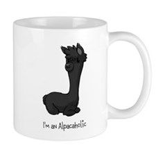Sitting Black Alpaca Mug