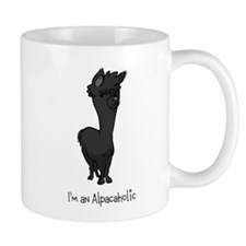 Standing Black Alpaca Mug