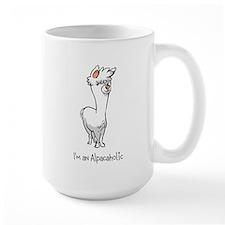 Standing White Alpaca Mug