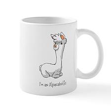 Sitting White Alpaca Mug