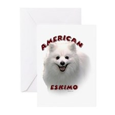 American Eskimo Greeting Cards (Pk of 10)