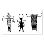 Petroglyph Peoples II Rectangle Sticker