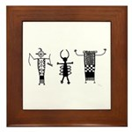 Petroglyph Peoples II Framed Tile