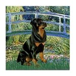 Bridge / Rottie Tile Coaster