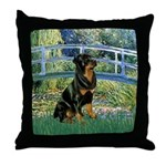 Bridge / Rottie Throw Pillow