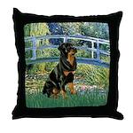 Bridge / Rottie Throw Pillow