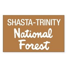 Shasta-Trinity National Forest (Sign) Decal