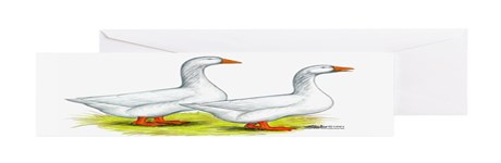 Embden Geese Greeting Cards (Pk of 10)