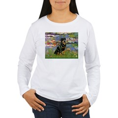 Lilies2/Rottweiler Women's Long Sleeve T-Shirt