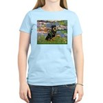 Lilies2/Rottweiler Women's Light T-Shirt