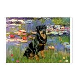 Lilies2/Rottweiler Postcards (Package of 8)