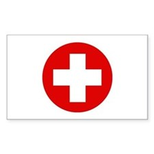 First Aid Kit Rectangle Decal