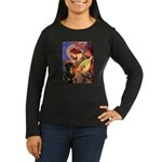 Mandolin Angel/Rottweiler Women's Long Sleeve Dark
