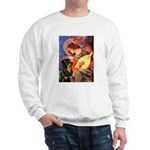 Mandolin Angel/Rottweiler Sweatshirt