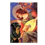 Mandolin Angel/Rottweiler Postcards (Package of 8)