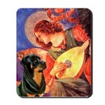 Mandolin Angel/Rottweiler Mousepad