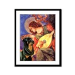 Mandolin Angel/Rottweiler Framed Panel Print