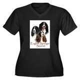 English Springer Spaniel Women's Plus Size V-Neck