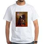 Lincoln's Rottweiler White T-Shirt