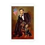 Lincoln's Rottweiler Sticker (Rectangle)