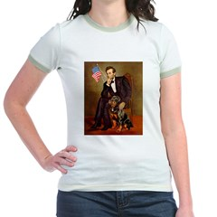 Lincoln's Rottweiler Jr. Ringer T-Shirt