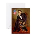 Lincoln's Rottweiler Greeting Card