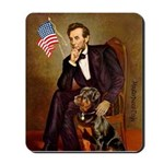 Lincoln's Rottweiler Mousepad