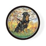 Spring / Rottweiler Wall Clock