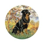 Spring / Rottweiler Ornament (Round)