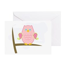 Owl (pink) Greeting Card