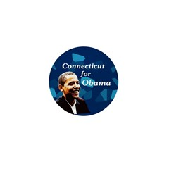 Connecticut for Obama campaign pin