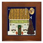 Irish Christmas Cottage Framed Tile