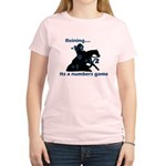 Reining is a numbers game Women's Pink T-Shirt