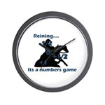 Reining is a numbers game Wall Clock