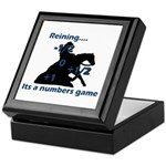 Reining is a numbers game Keepsake Box