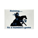 Reining is a numbers game Rectangle Magnet (100 pa