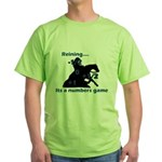 Reining is a numbers game Green T-Shirt