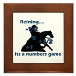Reining is a numbers game Framed Tile