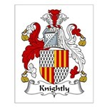 Knightly Family Crest Small Poster