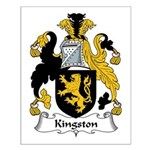 Kingston Family Crest Small Poster