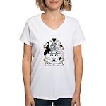 Killingworth Family Crest Women's V-Neck T-Shirt