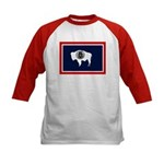 Wyoming State Flag Kids Baseball Jersey