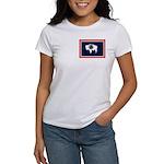 Wyoming State Flag Women's T-Shirt
