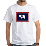 Wyoming State Flag White T-Shirt