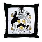 Kestell Family Crest Throw Pillow