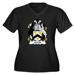 Kestell Family Crest Women's Plus Size V-Neck Dark