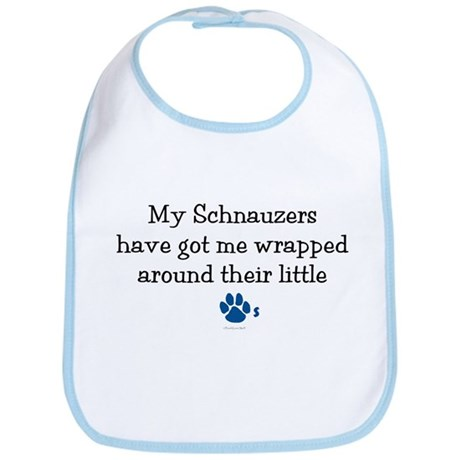 Wrapped Around Their Paws (Schnauzer) Bib